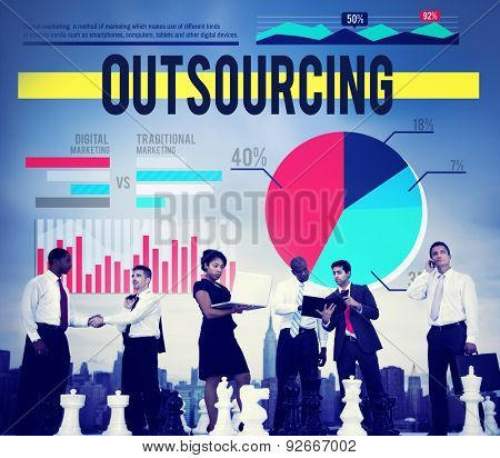 Outsourcing Recruitment Strategy Marketing Business Concept