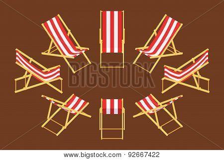Isometric deck chair