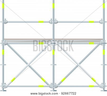 Colored Flat Style Scaffolding Illustration.