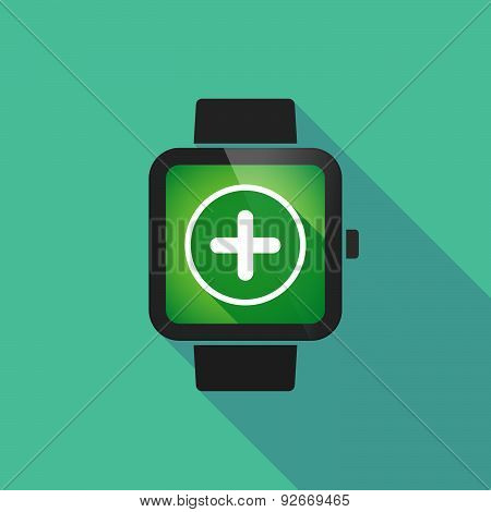 Smart Watch With A Sum Sign