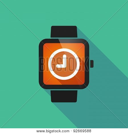 Smart Watch With A  Clock