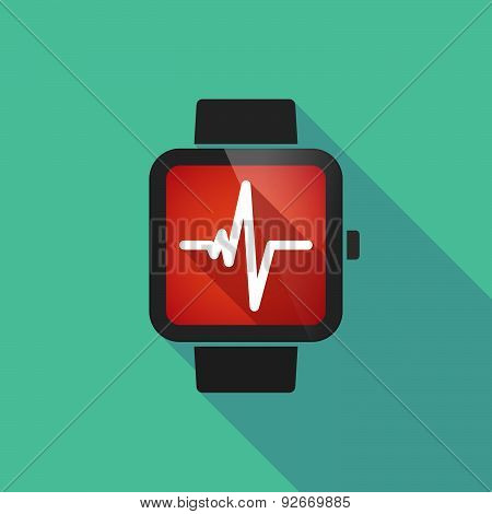 Smart Watch With A Heart Beat Sign