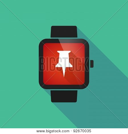 Smart Watch With A Pushpin