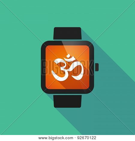 Smart Watch With An Om Sign