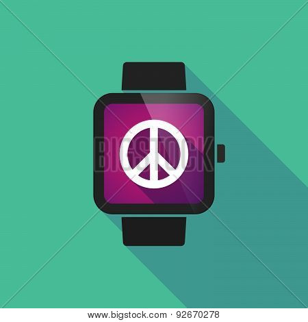 Smart Watch With A Peace Sign