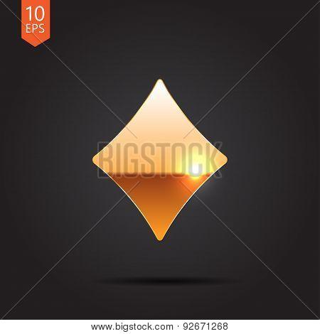 Vector game rhombus icon. Eps10