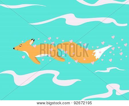 Red Fox In Love