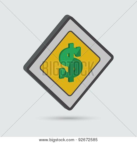 Isometric Dollar Sign