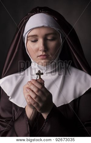 Nun With Cross