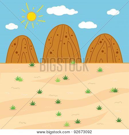 Vector Illustration (sunny Safari Day)