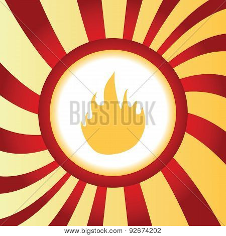 Fire abstract icon