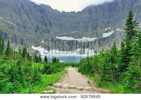 Iceberg Lake Glacier In Glacier National Park