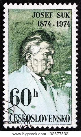 Postage Stamp Czechoslovakia 1974 Josef Suk, Czech Composer