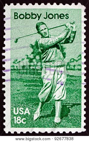 Postage Stamp Usa 1981 Bobby Jones, American Amateur Golfer