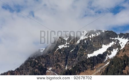 Cloud Covered Mountain Top