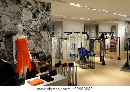 HONG KONG - JUNE 01, 2015: Hong Kong shopping mall interior. Hong Kong shopping malls are some of the biggest and most impressive in the world