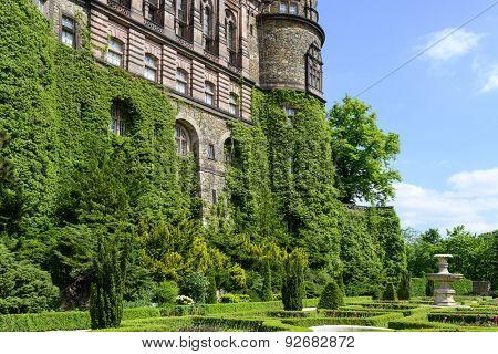 Ksiaz Palace naer Walbrzych in Lower Silesia, Poland