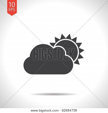 Vector cloudiness icon. Eps10