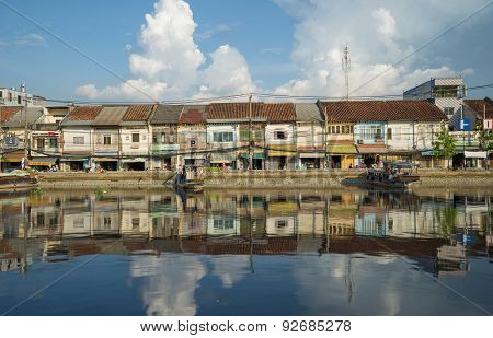 Ben Binh Dong Wharf On Tau Hu Canal At Ho Chi Minh City,