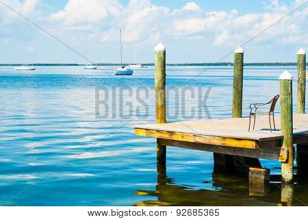 Boats On The Water In Key Largo