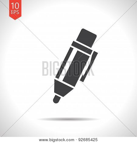Vector pen icon. Eps10