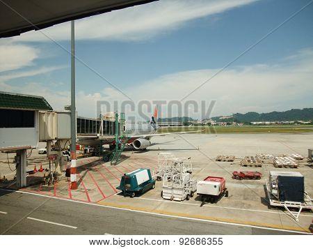 Jetstar at Penang Airport, Malaysia