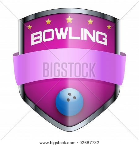 Bowling Shield badge.