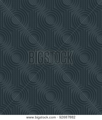 Retro dark perforated paper with outline extrude effect. 3d seamless background. See others in My Perforated Paper Sets.