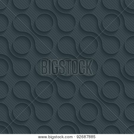 Geometric dark perforated paper with outline extrude effect. 3d seamless background. See others in My Perforated Paper Sets.