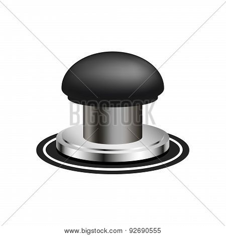 Black alert push button