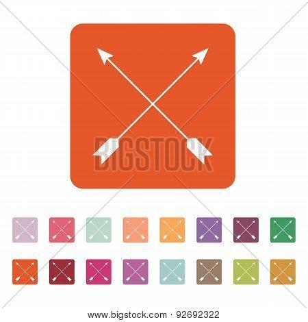 The Arrow Icon. Arrows Symbol. Flat
