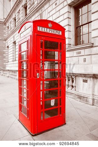 Retro Look London Telephone Box