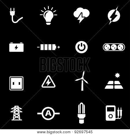 Vector white electricity icon set