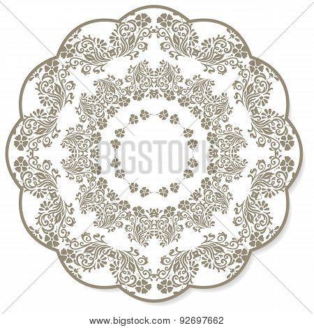 Lace Flower Round Napkin