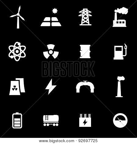 Vector white energetics icon set