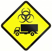 stock photo of hazardous  - Indonesian warning road sign  - JPG