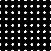 picture of color spot black white  - Simple geometric pattern with small circles in classic black white colors - JPG
