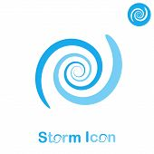stock photo of typhoon  - Storm spiral concept on white background - JPG
