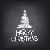stock photo of merry christmas text  - Abstract vector Illustration - JPG