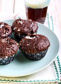 foto of chocolate muffin  - Rocky road muffins - JPG