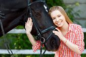 image of horse girl  - In harmony with nature - JPG