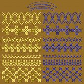 picture of stitches  - Collection of vector illustration hand stitched patterns color - JPG