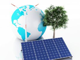 picture of solar battery  - 3d image - JPG
