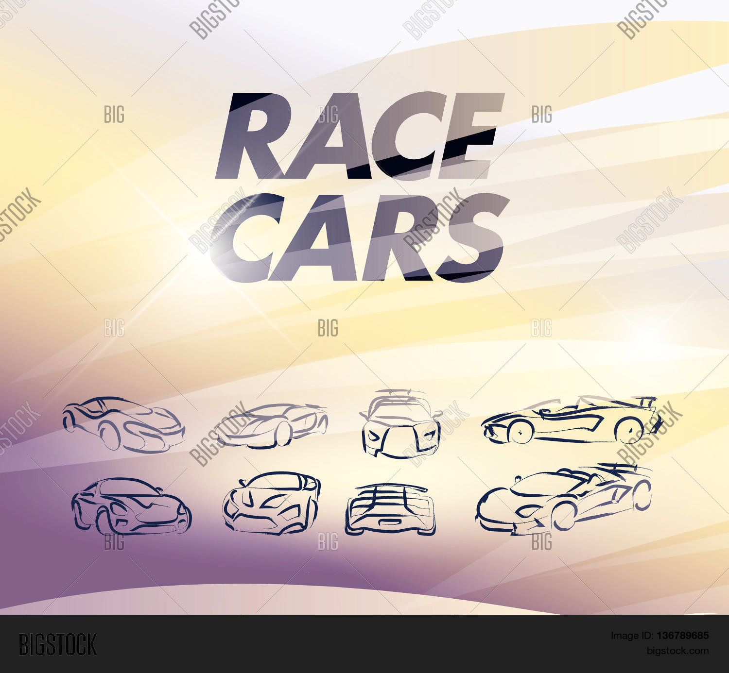 vector car sketch isolated hand vector photo