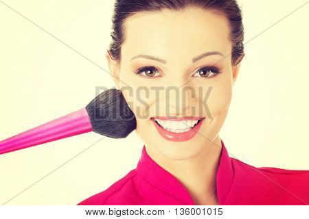 Young make-up artist