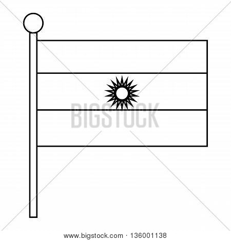 Flag of Argentina icon in outline style isolated on white background