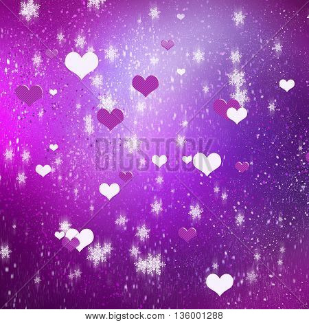 Conceptual image with hearts on color background
