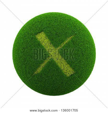 Grass Sphere Cancel Icon