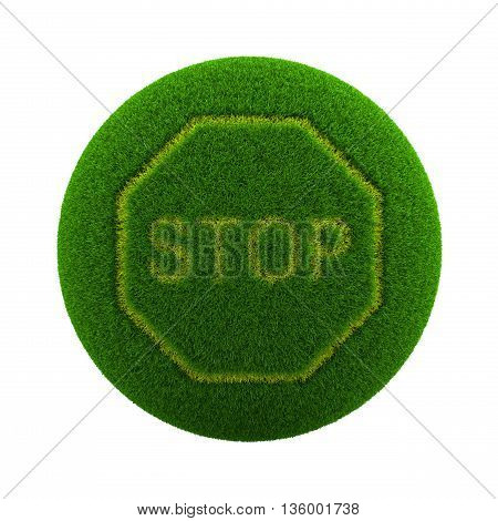 Grass Sphere Stop Sign Icon
