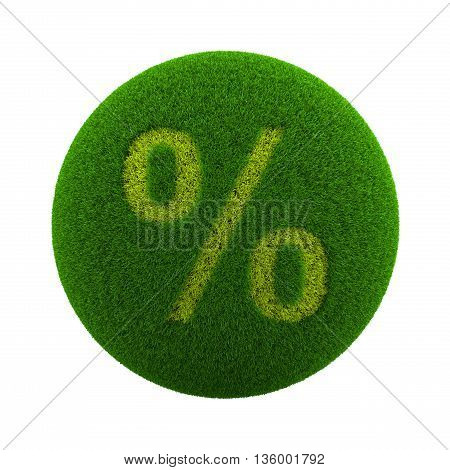 Grass Sphere Percent Sign Icon